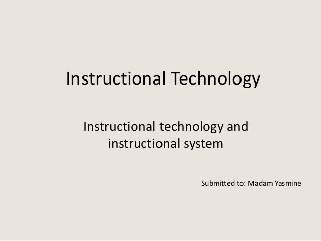 instructional system in education
