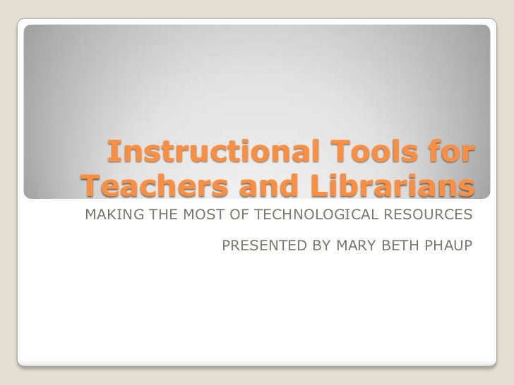 Instructional tools for teachers and librarians