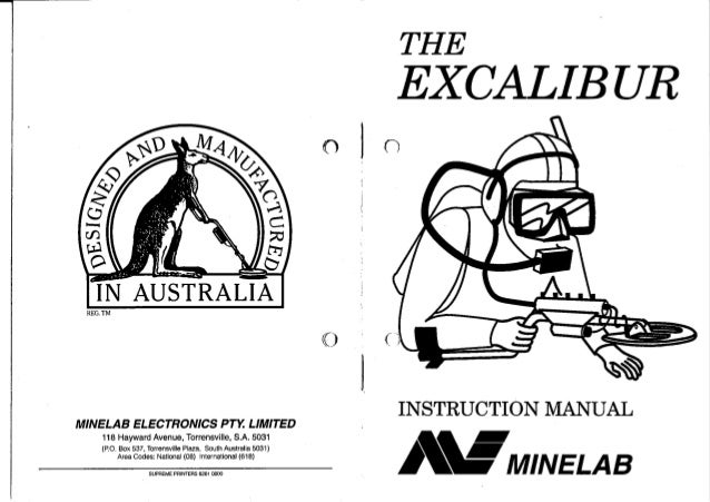 Instruction Manual Minelab Excalibur Metal Detector