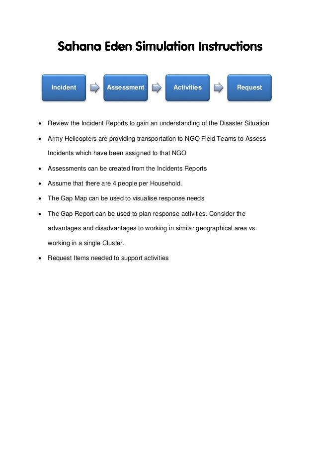  Review the Incident Reports to gain an understanding of the Disaster Situation  Army Helicopters are providing transpor...