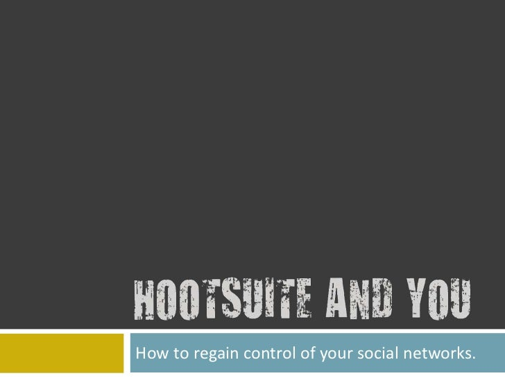 How to regain control of your social networks.<br />