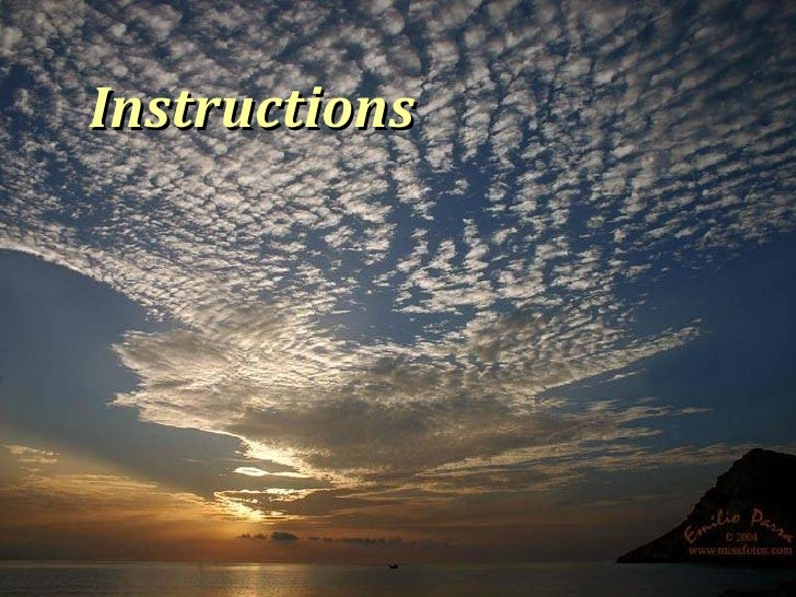Instructions from God !!
