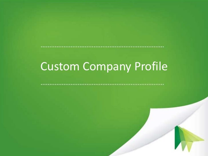 Instructions for creating a custom company profile