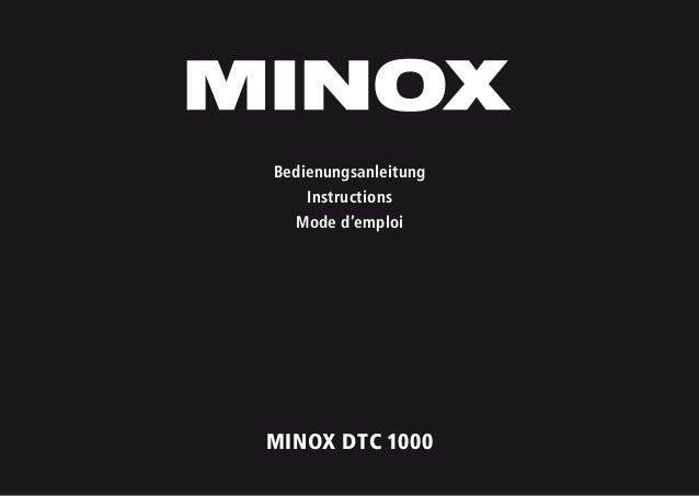 1 MINOX DTC 1000 Bedienungsanleitung Instructions Mode d'emploi