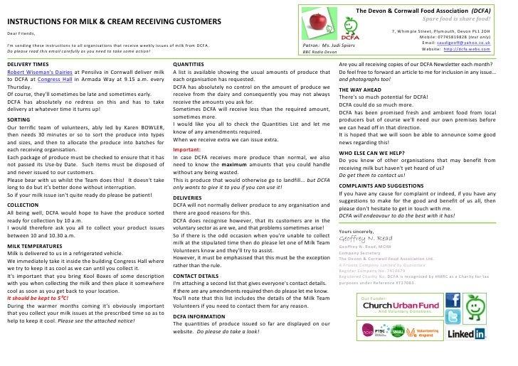 The Devon & Cornwall Food Association (DCFA)                                                                              ...