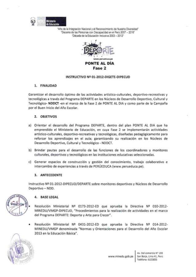 Instructivo del Programa DEPARTE