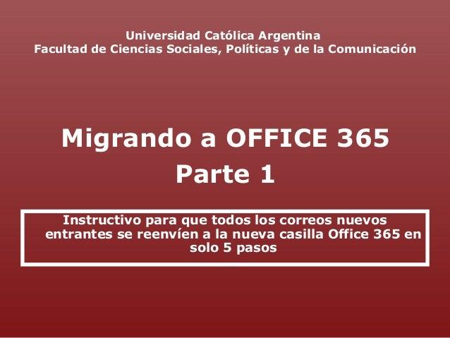 Universidad Católica Argentina Facultad de Ciencias Sociales, Políticas y de la Comunicación Instructivo para que todos lo...