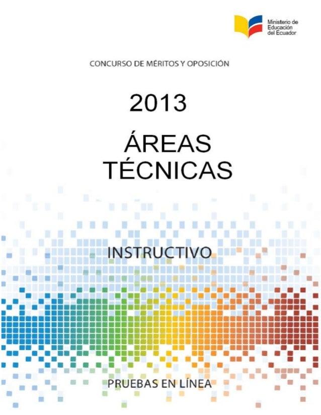 Instructivo areas tecnicas_2013