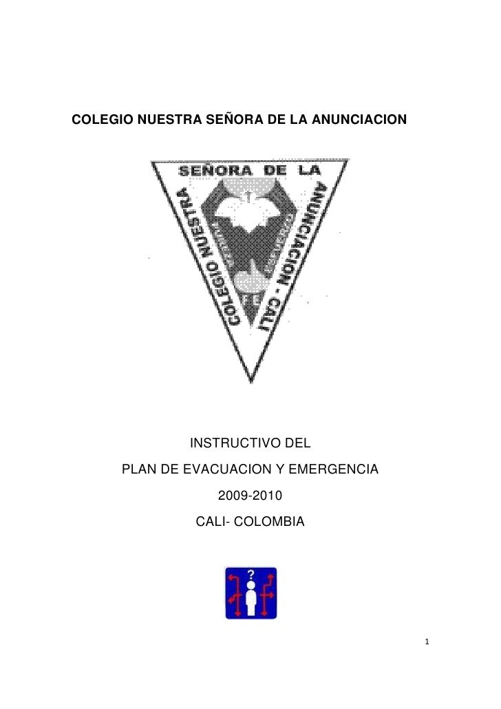 Instructivo de plan de evacuacion0910