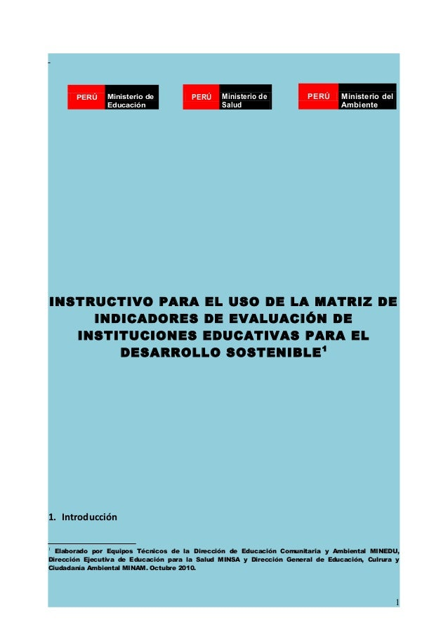 Instructivo enfoque ambiental