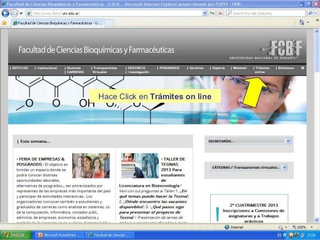 Hace Click en Trámites on line