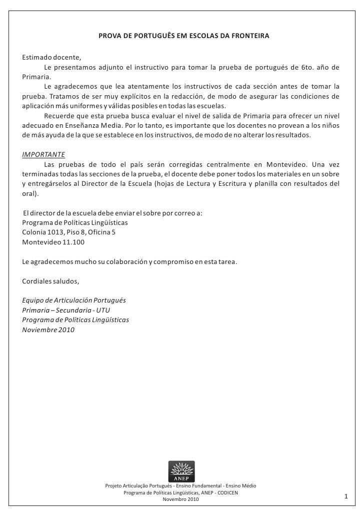 Instructivo portugués