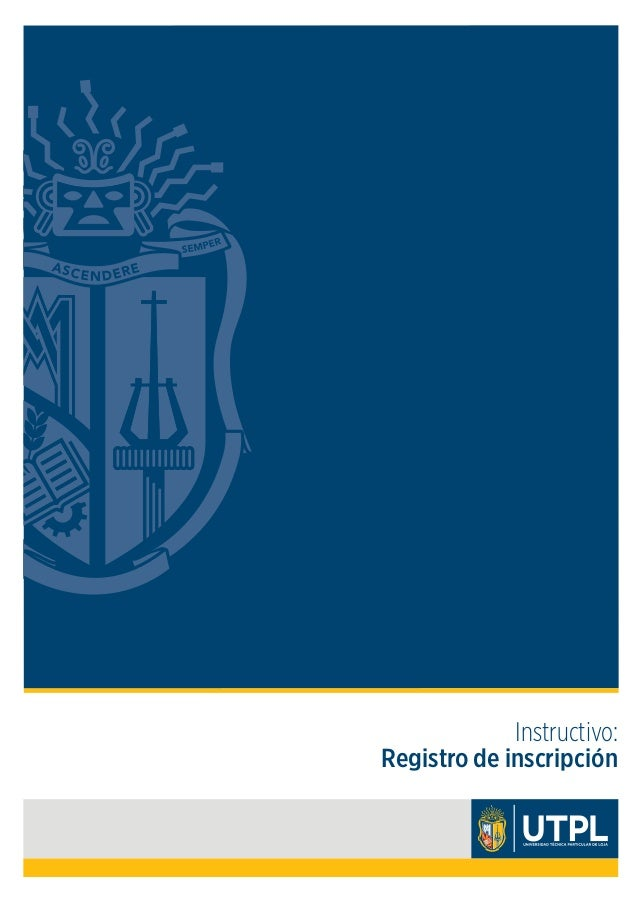 Instructivo: Registro de inscripción