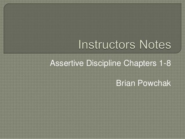 Classroom Management UNCA Spring 2014 Instructors notes module 1