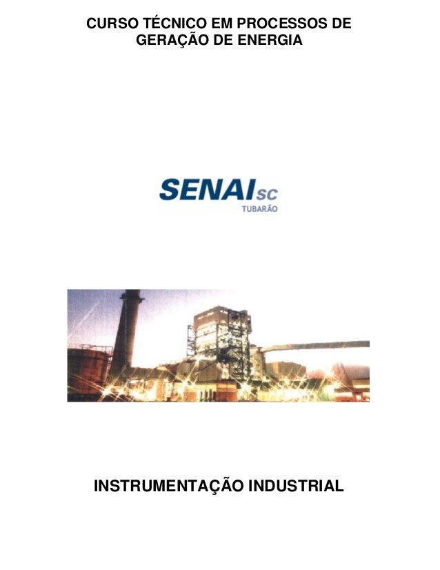 CURSO TÉCNICO EM PROCESSOS DE  GERAÇÃO DE ENERGIA  INSTRUMENTAÇÃO INDUSTRIAL