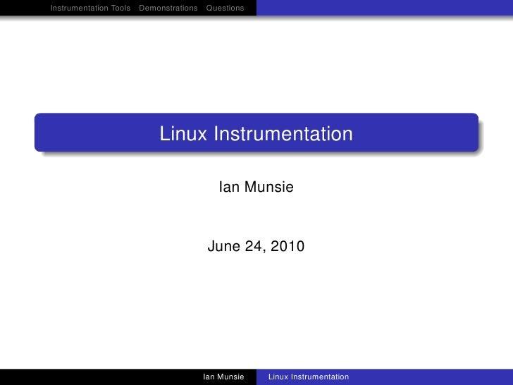 Linux Instrumentation