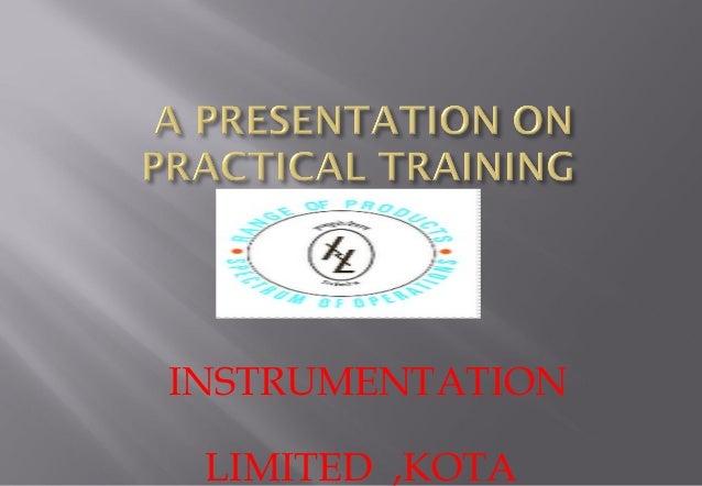 Instrumentation limited kota