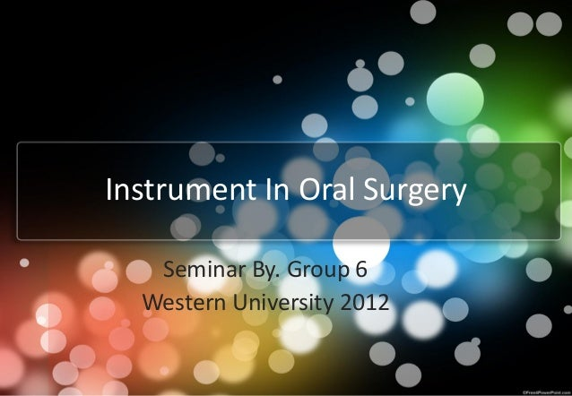 Instrument in oral surgery