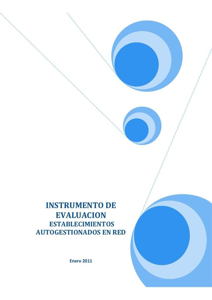 Instrumento de evaluación final