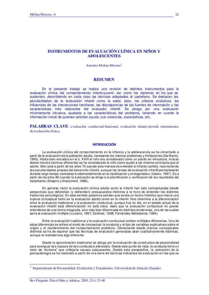 Instrumentos de evaluacion clnica en nios y adolescentes[1]