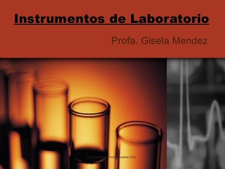 Instrumentos de Laboratorio Profa. Gisela Mendez Preparado por Profa. Rosalba Ortiz