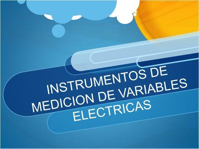 intrumentos medicion electrica: