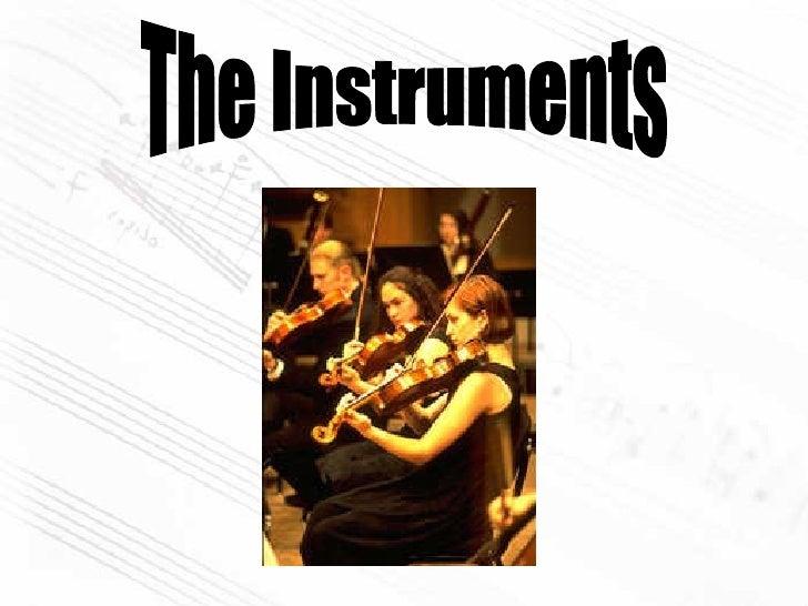 Instrumentos En Ingles