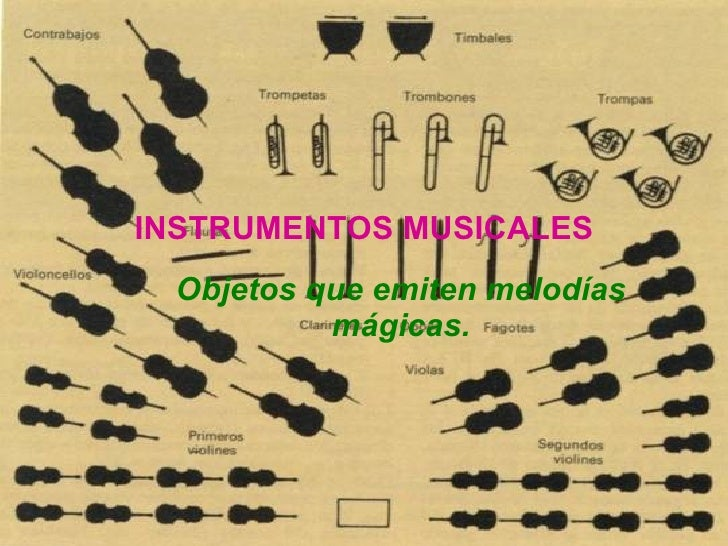 INSTRUMENTOS MUSICALES Objetos que emiten melodías mágicas.
