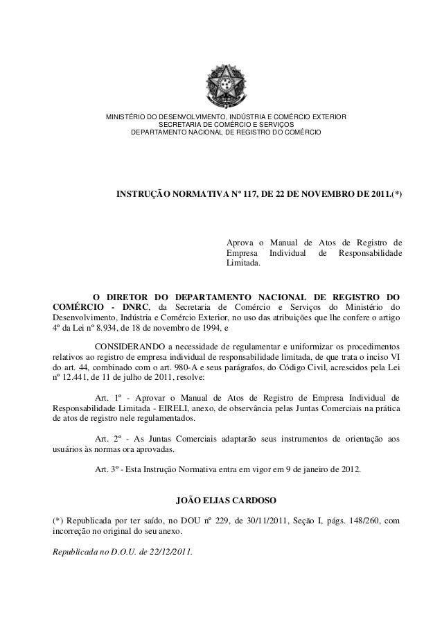 MINISTÉRIO DO DESENVOLVIMENTO, INDÚSTRIA E COMÉRCIO EXTERIOR                             SECRETARIA DE COMÉRCIO E SERVIÇOS...