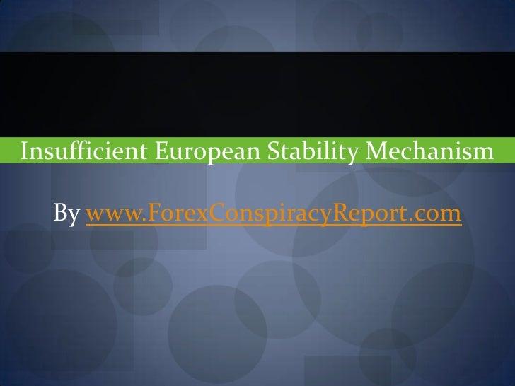 Insufficient European Stability Mechanism