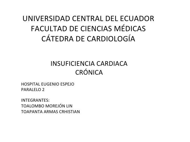 Insuficiencia cardiaca congestiva crónica: fisiopatología, tratamiento