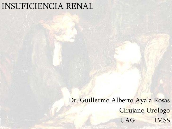 INSUFICIENCIA RENAL                  Dr. Guillermo Alberto Ayala Rosas                              Cirujano Urólogo      ...