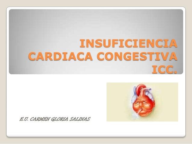 INSUFICIENCIA   CARDIACA CONGESTIVA                   ICC.E.U. CARMEN GLORIA SALINAS