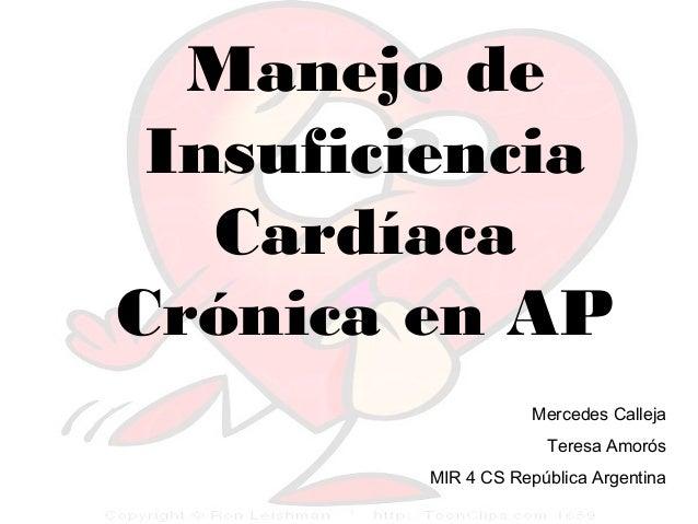 Manejo de insuficiencia cardíaca crónica en atención primaria