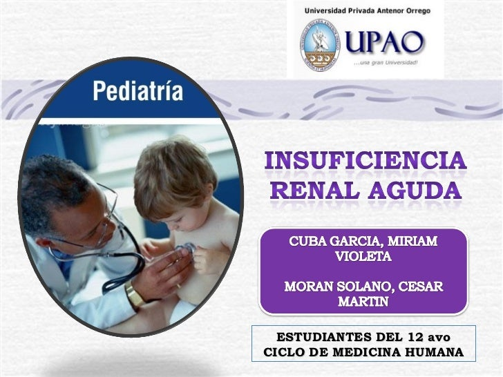 INSUFICIENCIA RENAL AGUDA EN PEDIATRIA