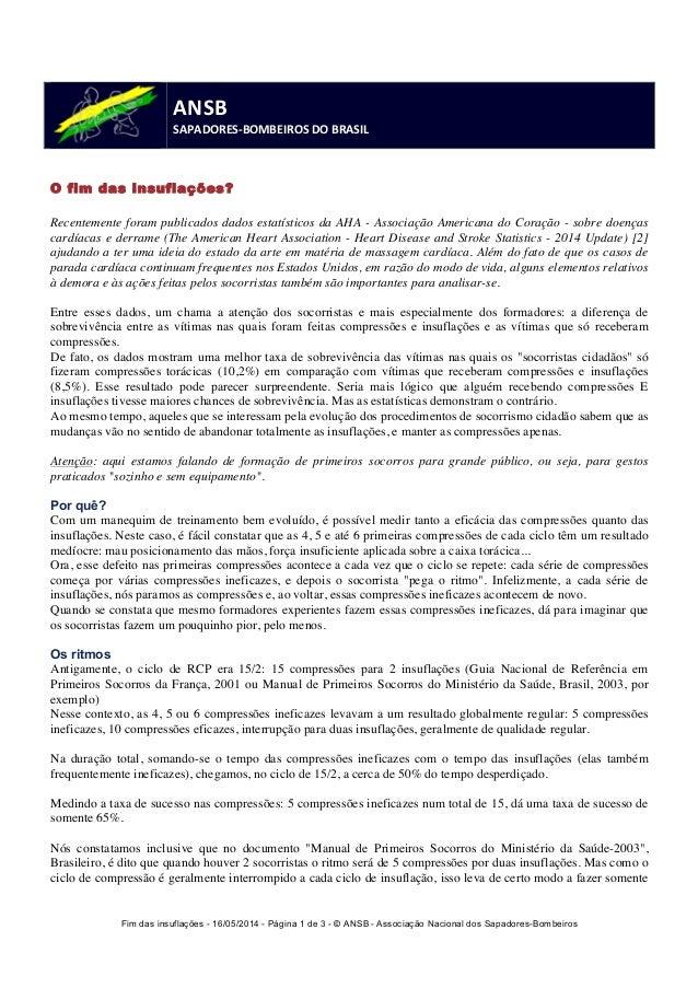 Fim das insuflações - 16/05/2014 - Página 1 de 3 - © ANSB  - Associação Nacional dos Sapadores-Bombeiros  ANSB  SAPADORES-...