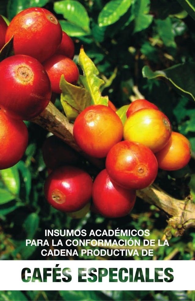 Insumos académicos para la conformación de la cadena productiva de Cafés Especiales © Universidad Tecnológica de Pereira P...