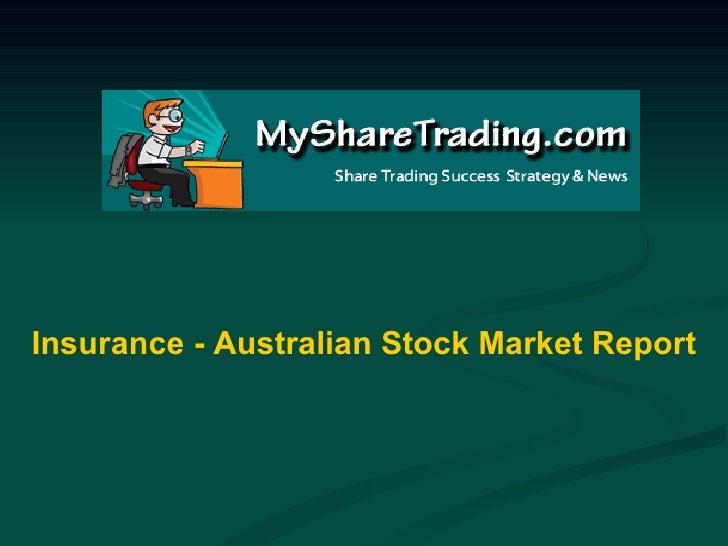 Insurance - Australian Stock Market Report