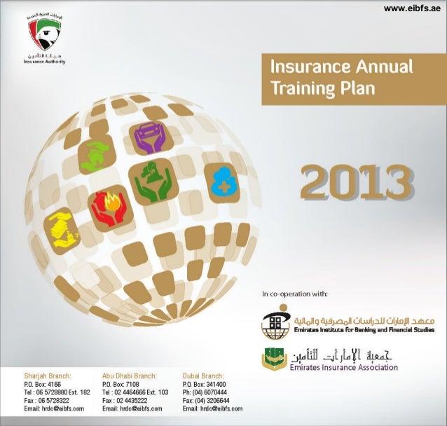 Insurance annual training plan 2013