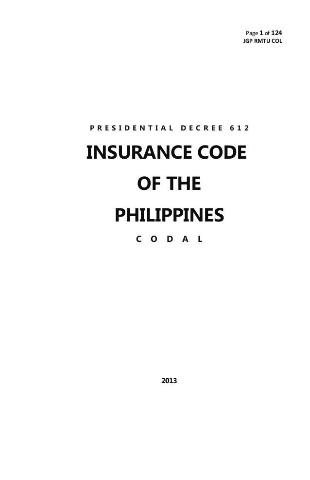 Insurance codal
