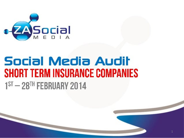 Social Media Audit for Short Term Insurance Companies