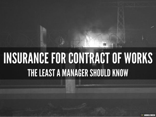 Insurance for Small Works