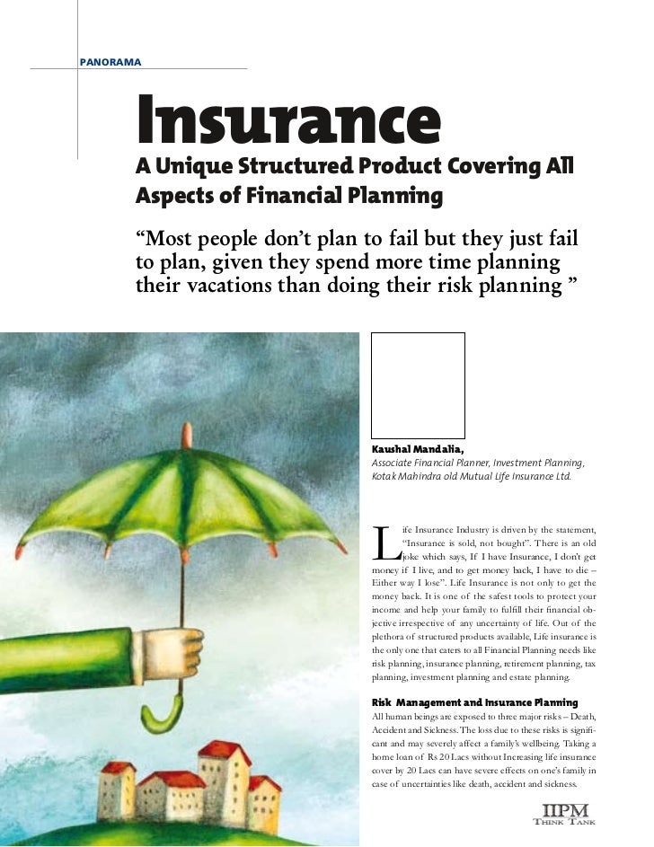 "panorama       Insurance       A Unique Structured Product Covering All       Aspects of Financial Planning       ""Most pe..."