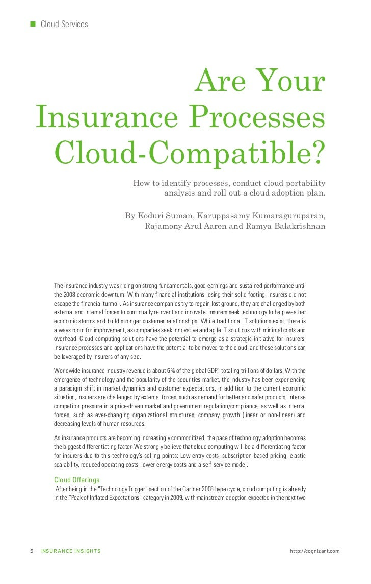 Are your insurance processes cloud compatible?