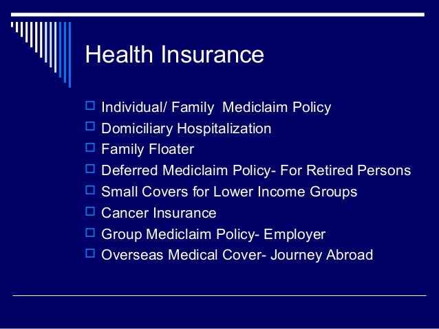 Insurance products 2 ( General Insurance)