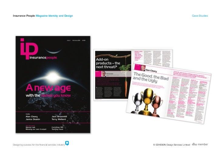 Insurance People Magazine Identity and Design                                                Case Studies     Designing su...