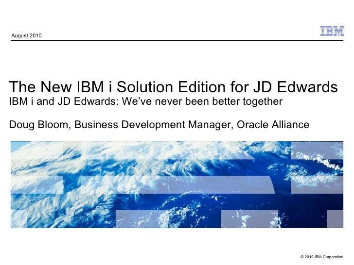 Insync10 IBM JDE Sol Ed Announcement