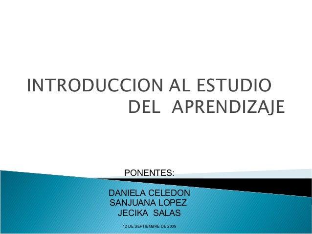 Introducción al Estudio del Aprendizaje