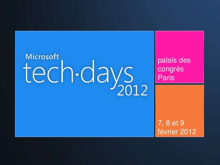 Introduction à Ruby - MS Techdays 2012