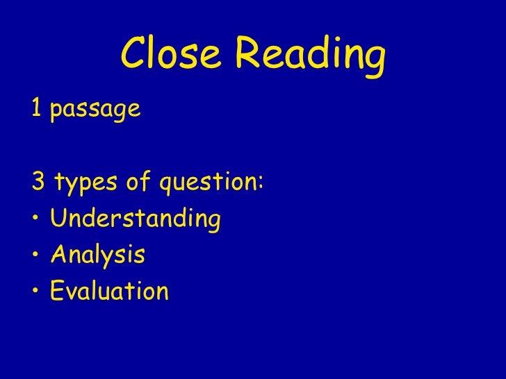 Int 2 Close Reading